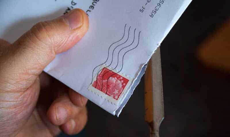 直接届いた手紙を開封