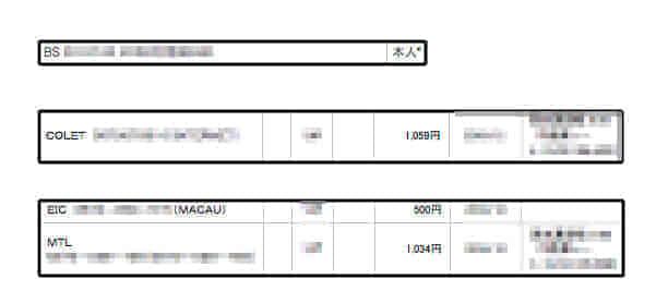 出会い系サイトのポイントをクレジットカードで買った時の明細